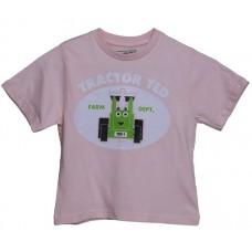 Tractor Ted Happy Tee S/S - Pink Ages 4/5